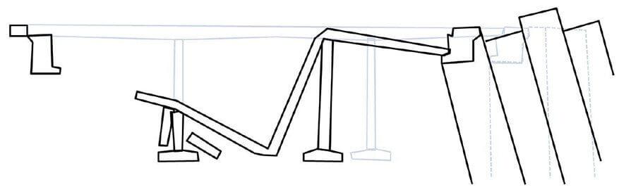 【図-21】祭畤大橋の被害状況(岩手・宮城内陸地震, 2008)