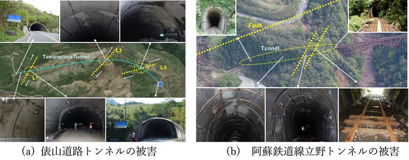 【図-29】2016年熊本地震によるトンネルの被害