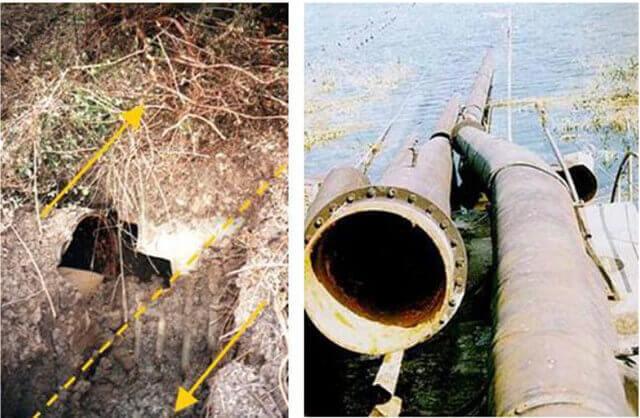 【図-35】断層変位による埋設されたパイプの変形の状況(1999 Kocaeli 地震)