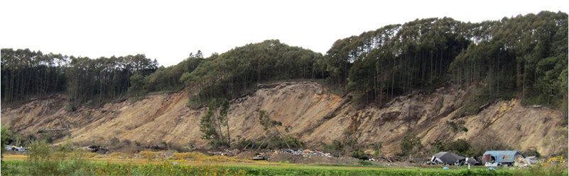 【図-38】2018年北海道胆振地震による吉野地域の斜面崩壊