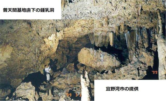 【図-11】普天間基地直下の鍾乳洞(宜野湾市の提供)