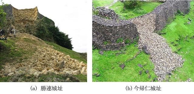 【図-12】沖縄県における石積の城壁が崩壊例