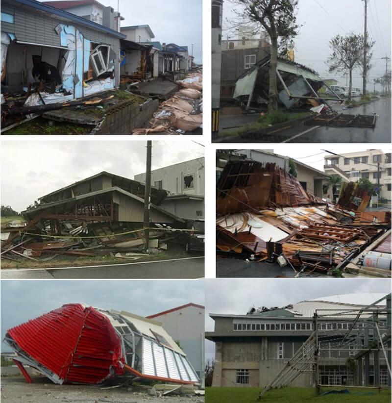 【写真-2】台風による建物の被害の様子