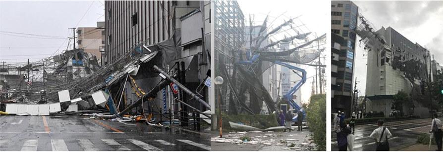 【写真-3】台風によるフレーム構造の被害