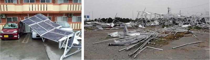 【写真-4】台風によるソーラーパネルの被害