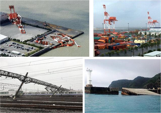 【写真-10】台風による様々の構造物の被害