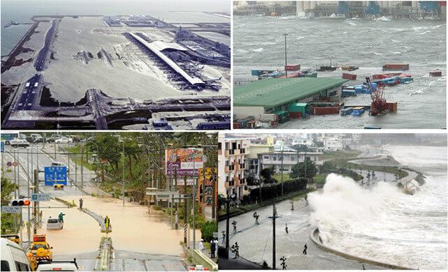 【写真-11】台風による高波に伴う浸水被害
