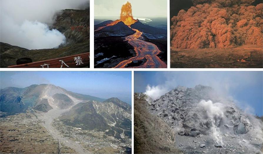 【写真-1】火山の噴火の種類